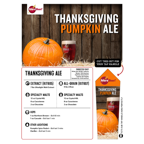 Thanksgiving Pumpkin Ale Extract Beer Brewing Kit 5 Gallons