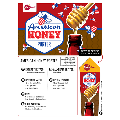 American Honey Porter - All Grain Beer Brewing Kit (5 Gallons)