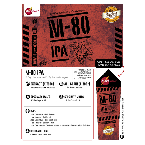 M-80 IPA by Carlos Musquez (Malt Extract Kit)