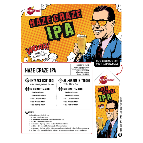 Haze Craze IPA - Juicy IPA Recipe - Extract Beer Kit