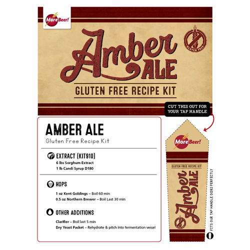 Amber Ale - Gluten Free Extract Beer Brewing Kit (5 Gallons)