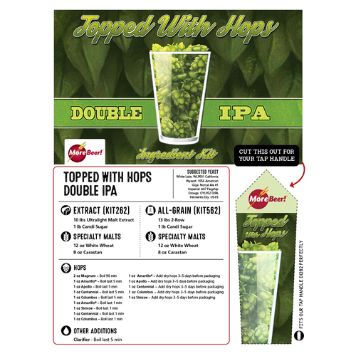 Heady Topper® Clone - Topped With Hops Double IPA (Extract)