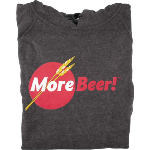 MoreBeer!® Logo - Hooded Sweatshirt (Carbon)