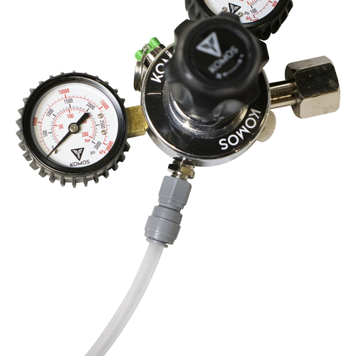 KOMOS® Dual Gauge CO2 Regulator