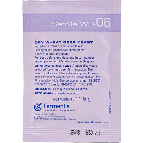 Safbrew WB-06 Wheat Beer Yeast (Fermentis) - 11.5 g