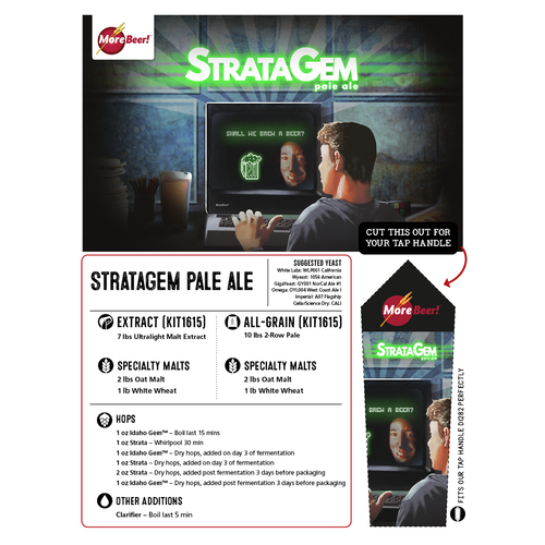 StrataGem DDH Pale Ale - Extract Beer Brewing Kit (5 Gallons)