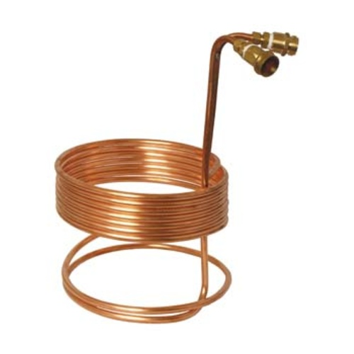 MoreBeer! Immersion Wort Chiller – 25 ft. x 3/8 in. (With Fittings)