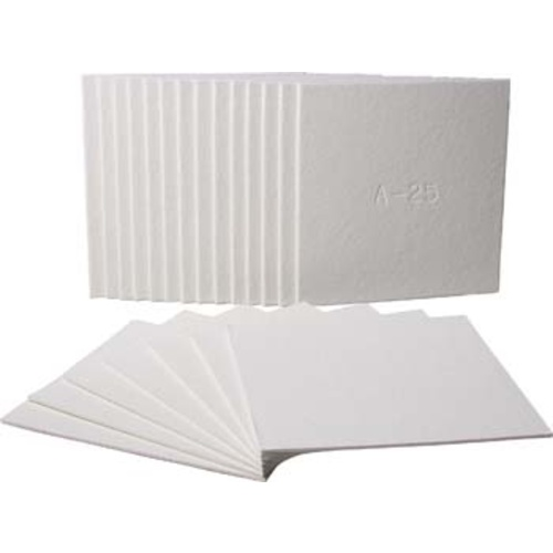 Filter Sheets - 40 cm x 40 cm (0.8 Micron) 100 Sheets