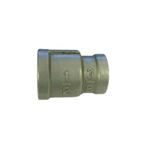 Stainless Coupler - 3/8 in. FPT x 1/2 in. FPT