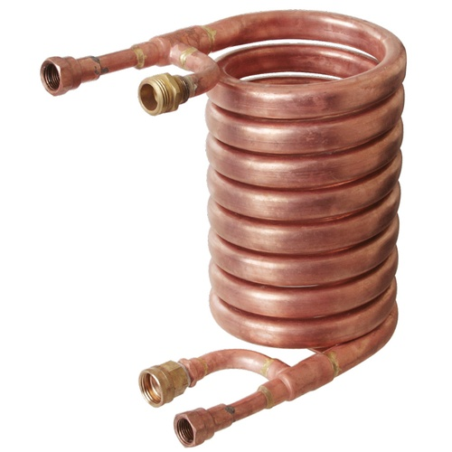 Wort Chiller - Counterflow Chiller (With 1/2 in. FPT Fittings)