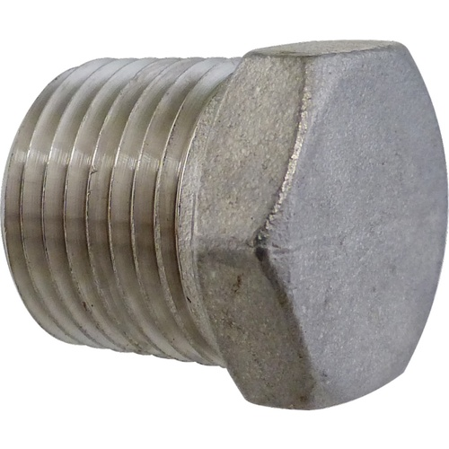 Stainless Hollow Plug - 1/2 in. MPT
