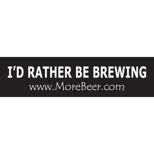 Bumper Sticker - Id Rather Be Brewing!